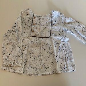 ZARA Babygirl long sleeve shirt 18-24m